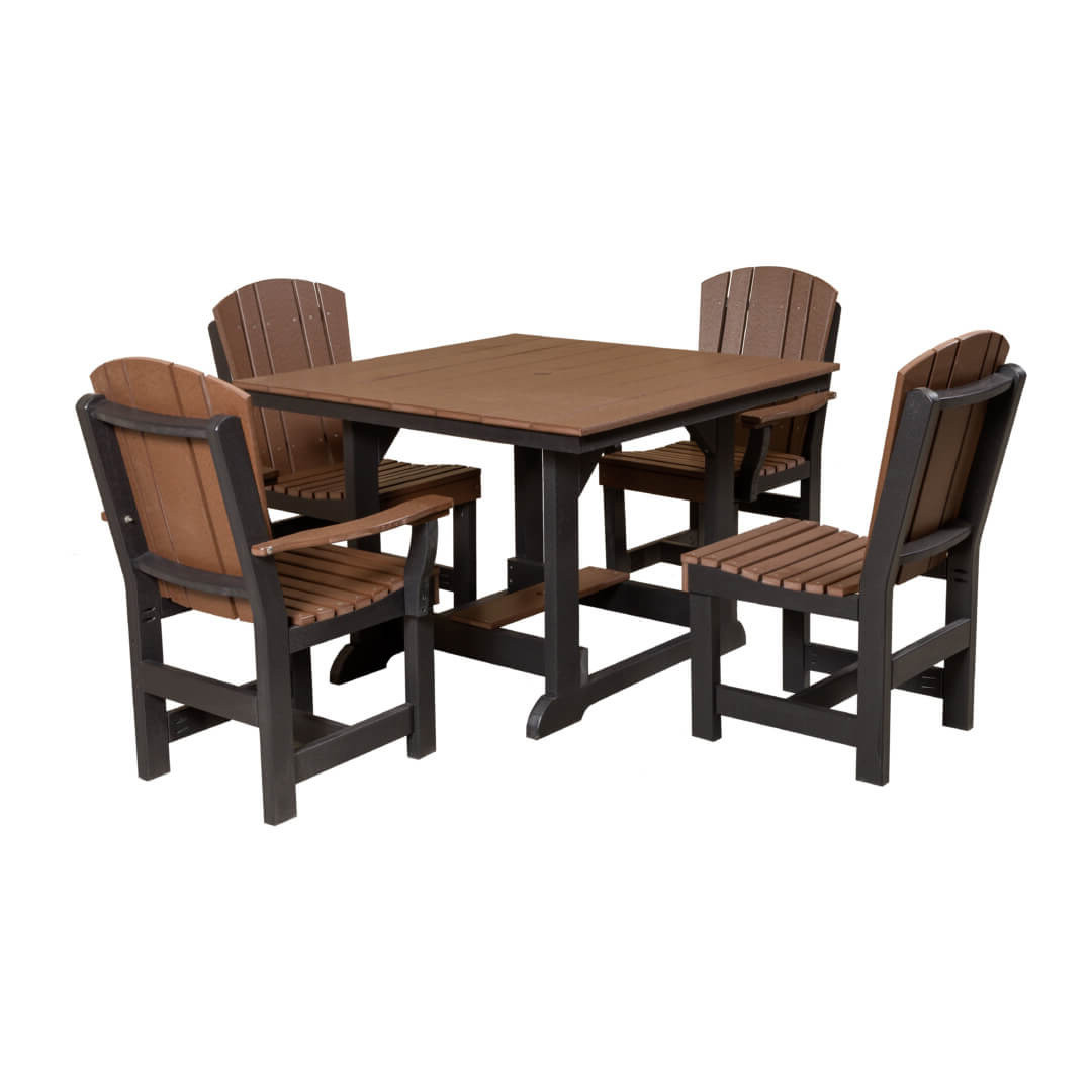 """Wildridge Heritage 44""""x44"""" Table with 4 Dining Chairs"""