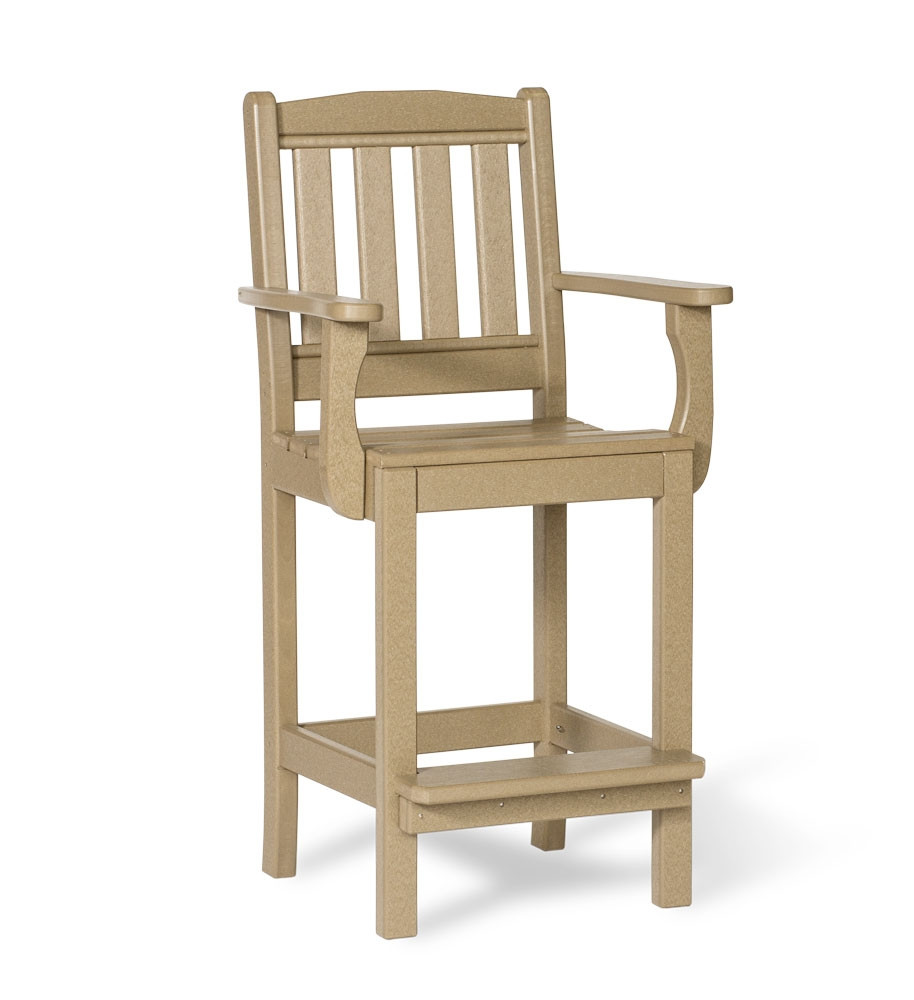 Amish Poly English Garden Bar Height Arm Chair