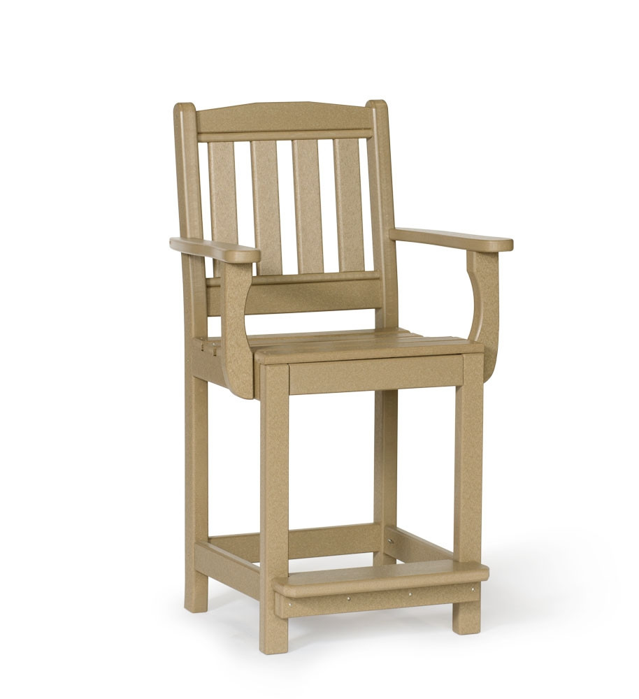 Amish Poly English Garden Counter Height Arm Chair