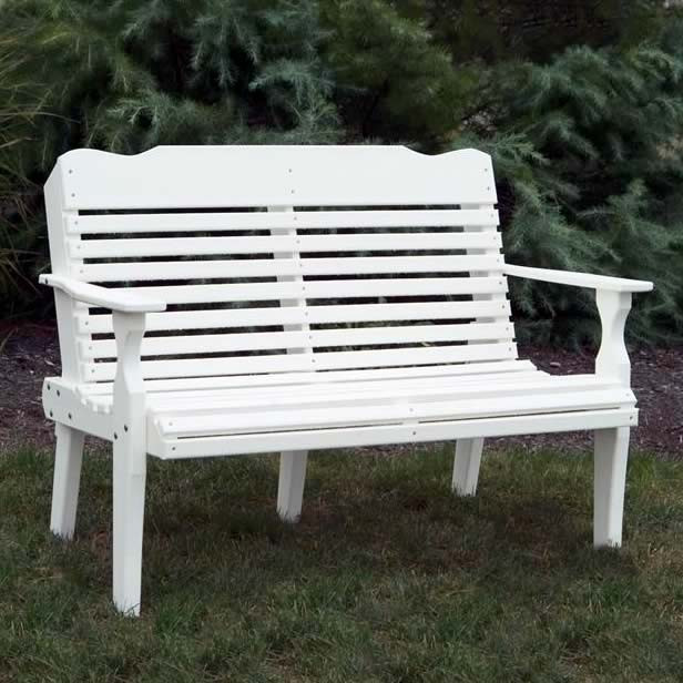 Amish 4 ft Curve-Back Poly Garden Bench
