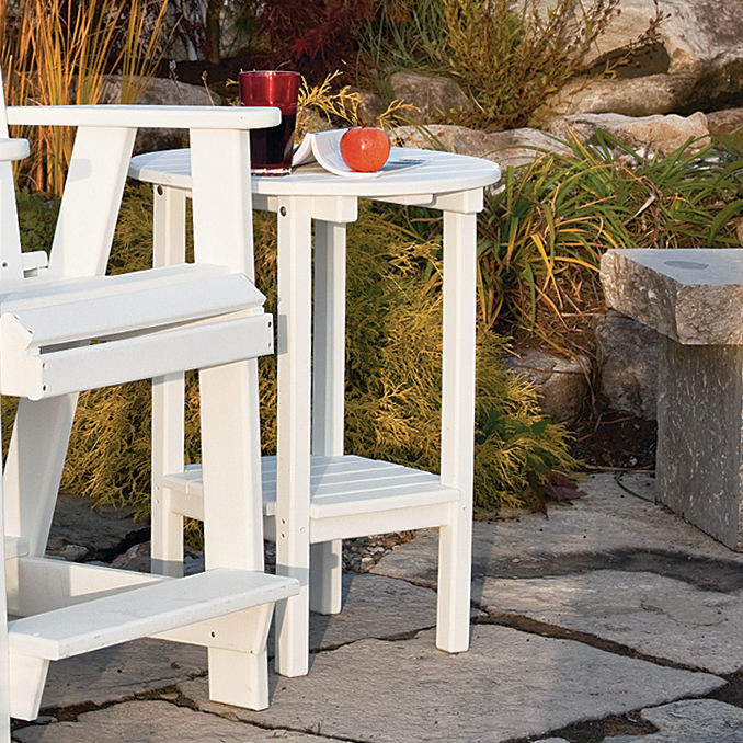 Amish Double Tier Poly Wood Table