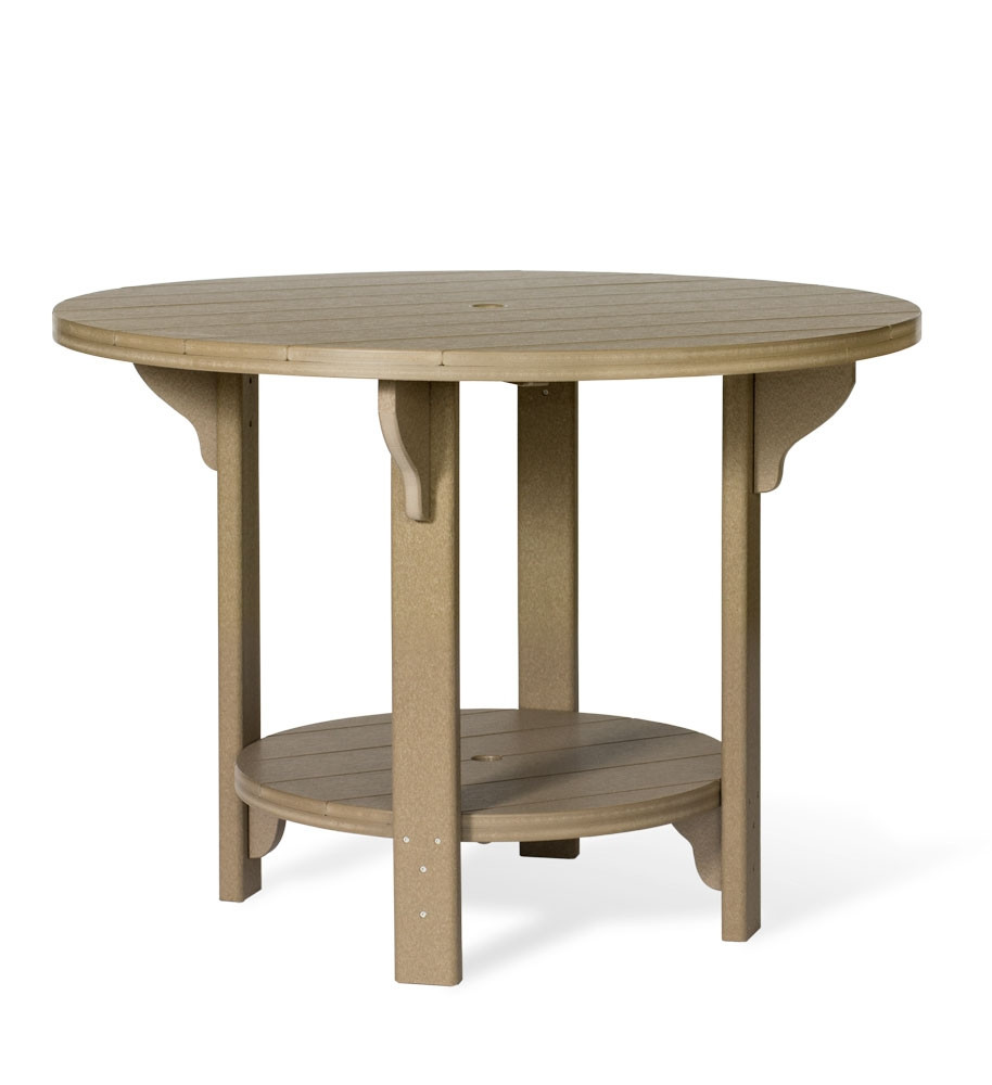 "Amish Poly Round 48"" Counter Height Table"