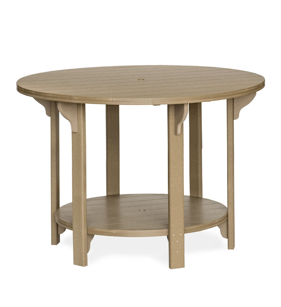 Amish Poly Round 60 in Bar Height Table