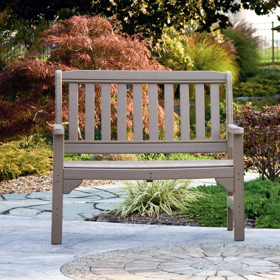 Amish 4 ft Poly English Garden Bench