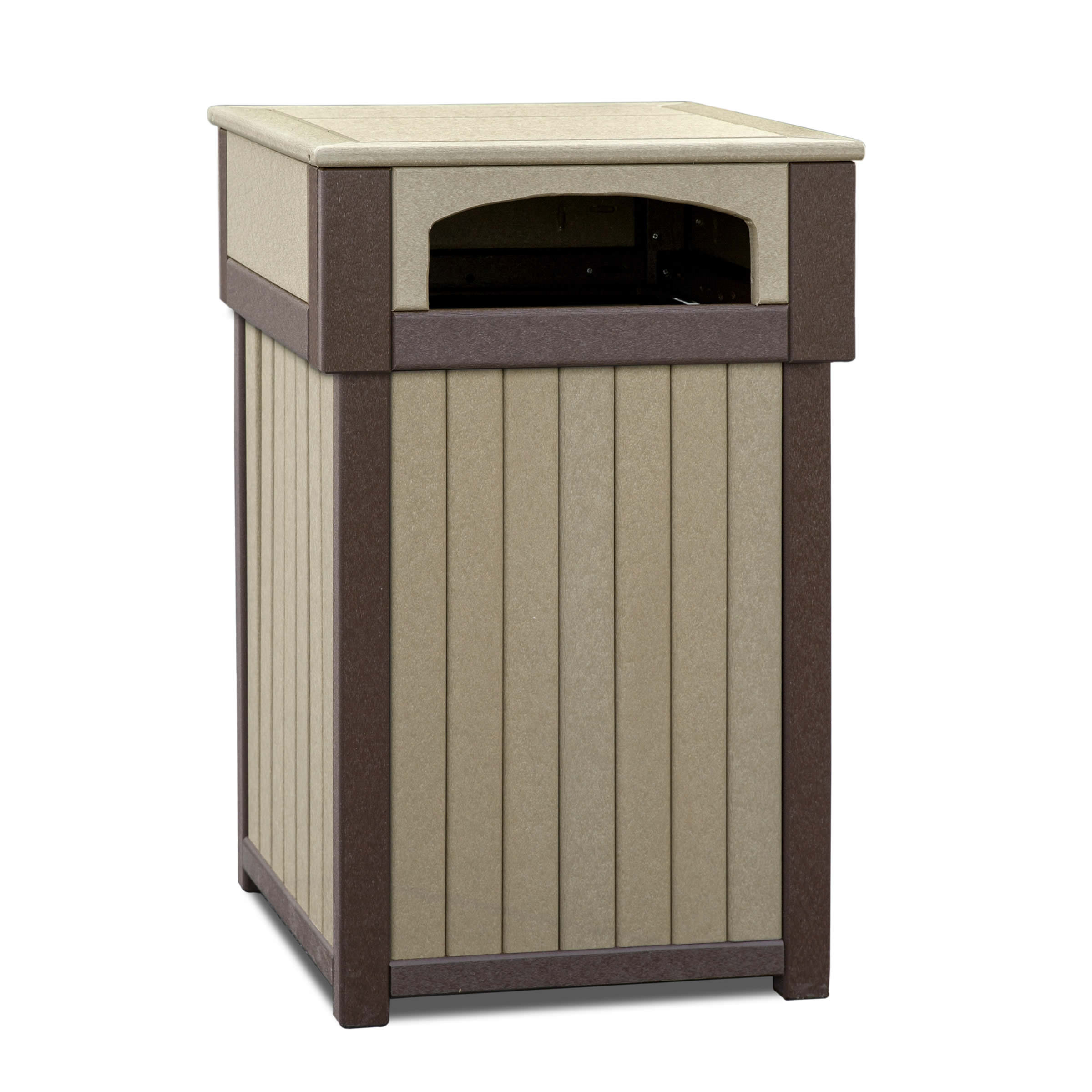 Amish Poly Trash Receptacle