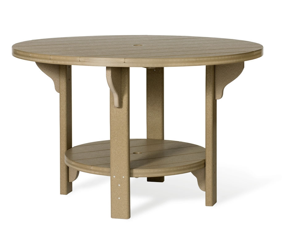 """Amish Poly Round 48"""" Dining Table"""