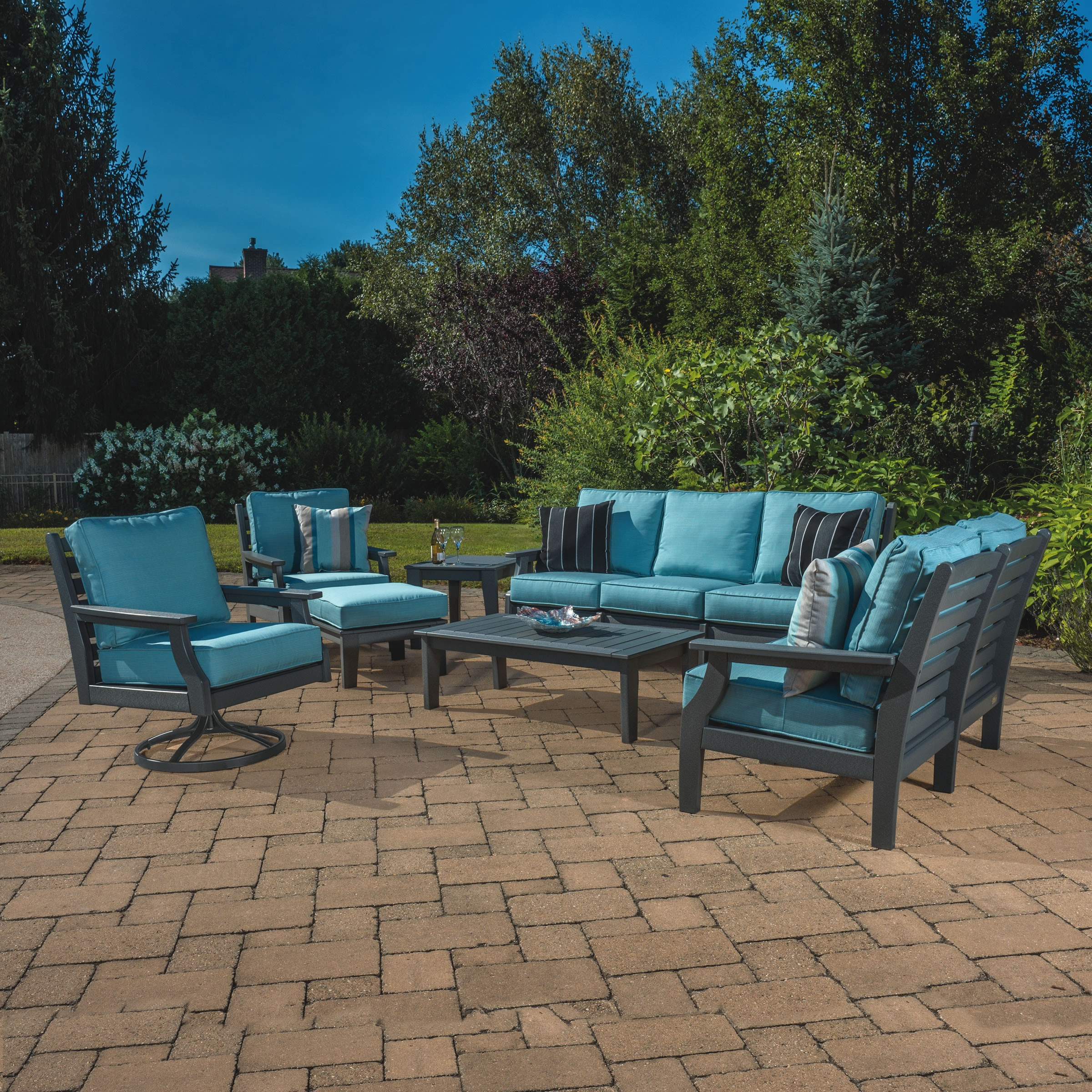 Malibu Outdoor Maywood 7 pc Outdoor Living Set