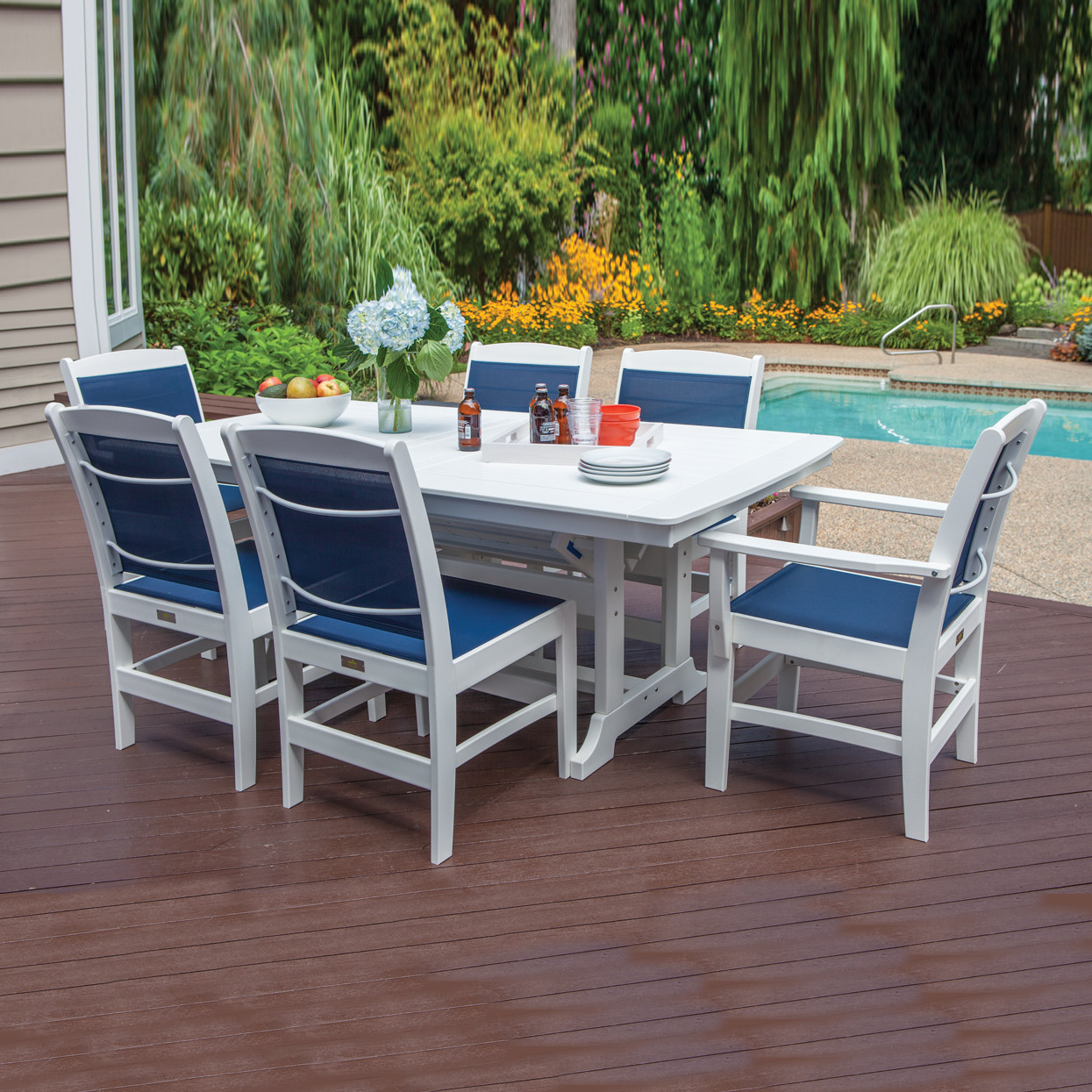 malibu outdoor napa sling 7 pc dining set malibu outdoor living