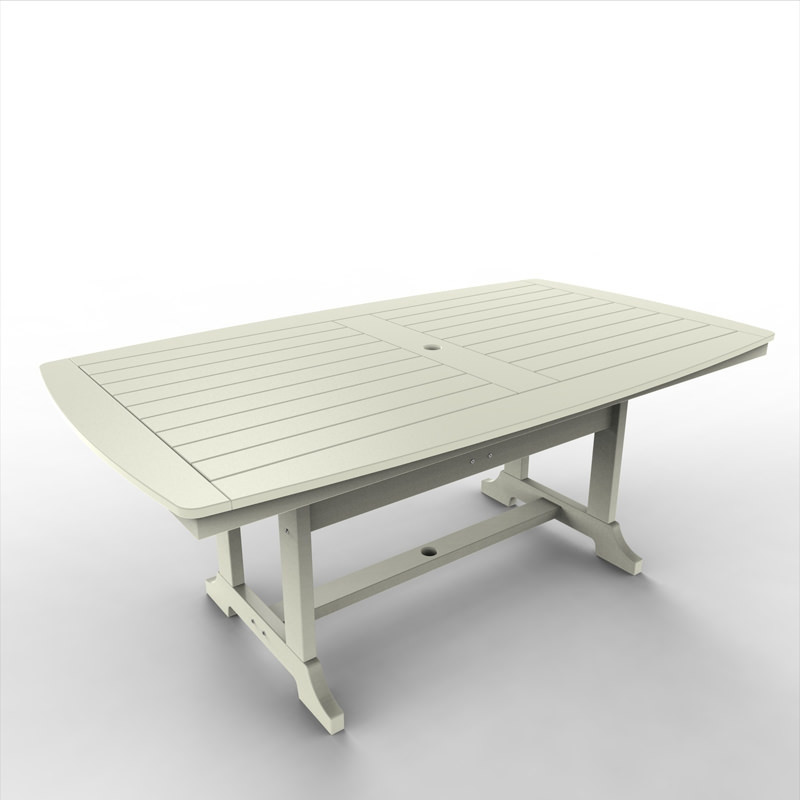 Malibu Outdoor Napa 43 in x 76 in Dining Table