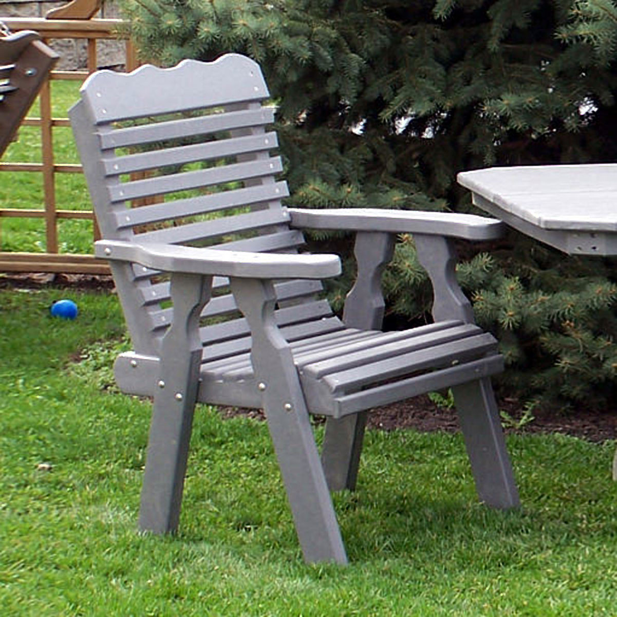 Amish Poly Plainback 22in Chair