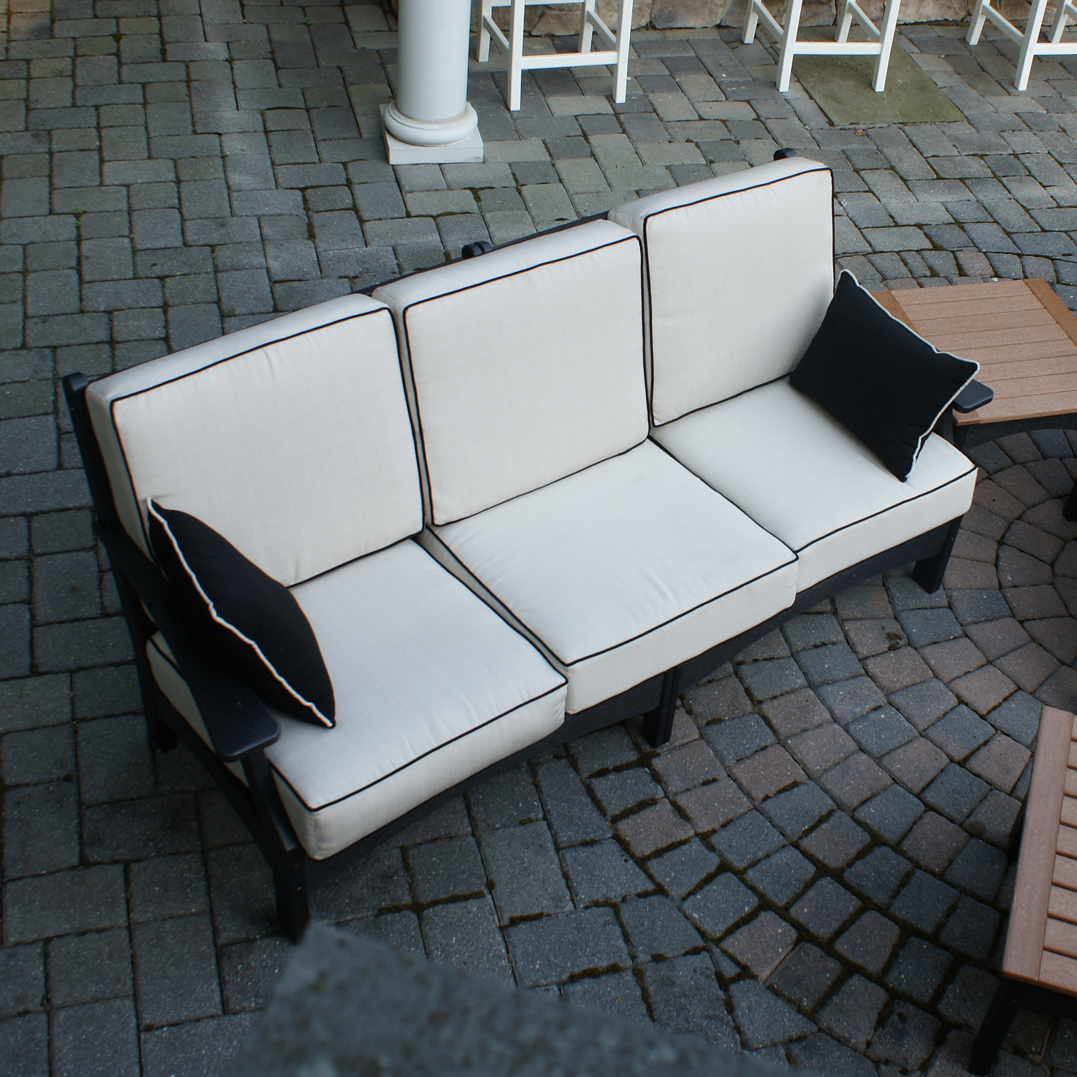 Square Cushions with Black Welting - Pillows sold separately