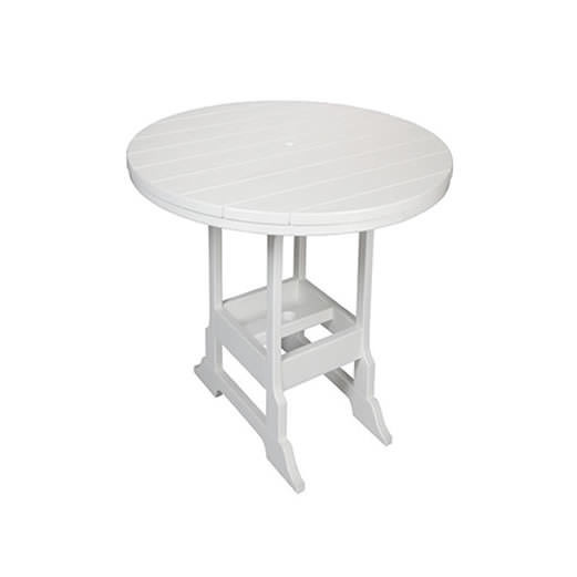 Casual Comfort Poly Lumber 28in Oceanside Counter Table - Round