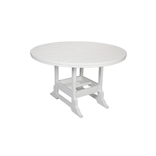 Casual Comfort Poly Lumber 28in Oceanside Dining Table - Round