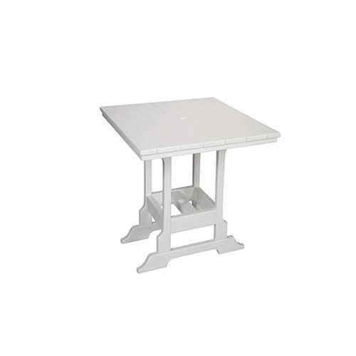 Casual Comfort Poly Lumber 28in Oceanside Dining Table -  Square