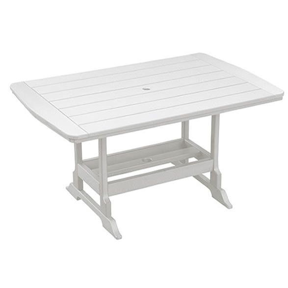 Casual Comfort Poly Lumber 40 x 84 Oceanside Bar Table