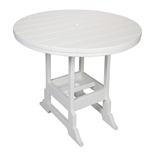 Casual Comfort Poly Lumber 48in Oceanside Bar Table - Round