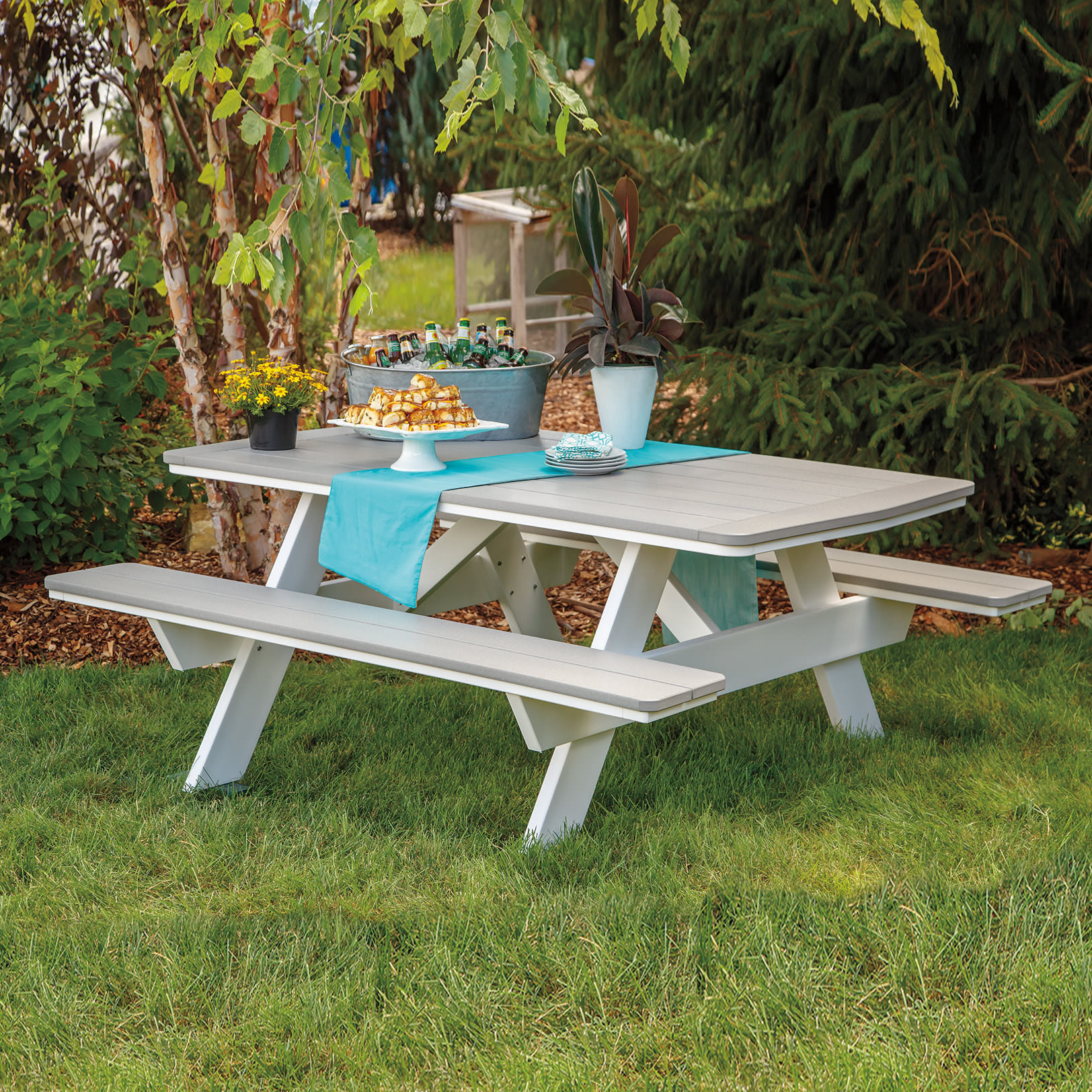 Casual Comfort Poly Lumber 72in Picnic Table w/Benches