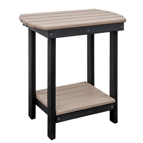 Casual Comfort Poly Lumber Bar Ht Oval End Table