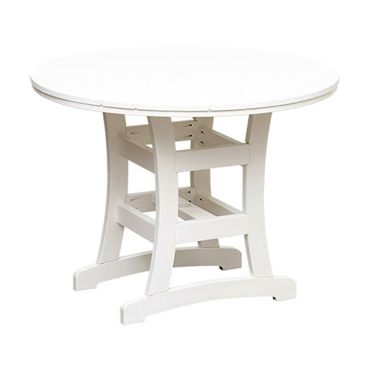 Casual Comfort Poly Lumber Bayshore 48in Counter Table - Round