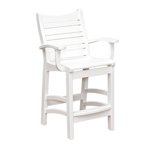 Casual Comfort Poly Lumber Bayshore Bar Chair w/ Arms