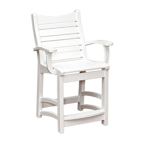 Casual Comfort Poly Lumber Bayshore Counter Chair w/ Arms