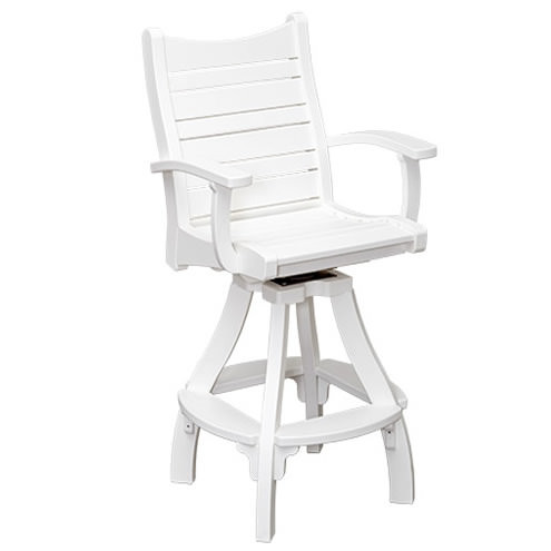 Casual Comfort Poly Lumber Bayshore Swivel Bar Chair w/Arms