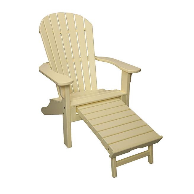Casual Comfort Poly Lumber Oceanside Adirondack w/Pullout