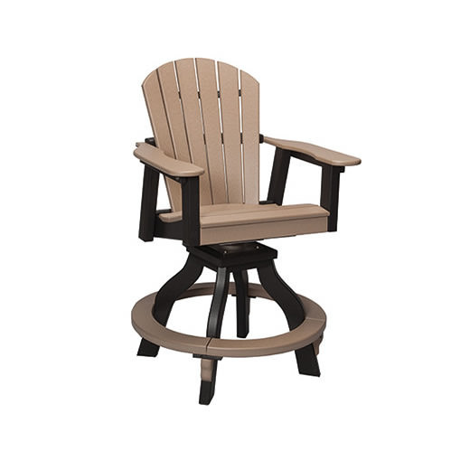 Casual Comfort Poly Lumber Oceanside Swivel Counter Chair