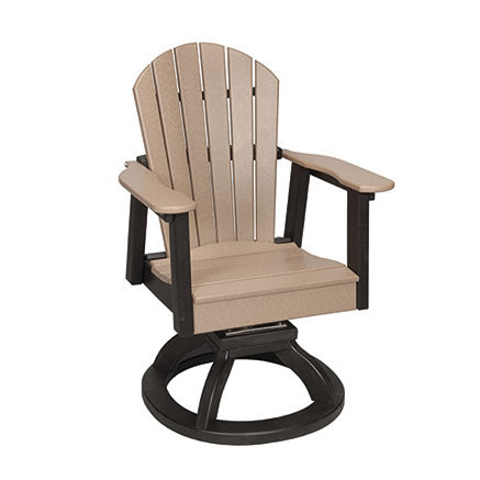 Casual Comfort Poly Lumber Oceanside Swivel Rocker Dining