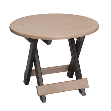 Casual Comfort Poly Lumber - Round Folding Table