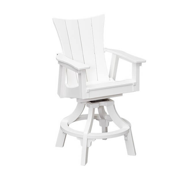 Casual Comfort Poly Lumber Wavz Swivel Counter Chair