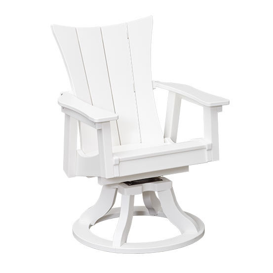 Casual Comfort Poly Lumber Wavz Swivel Dining  Chair