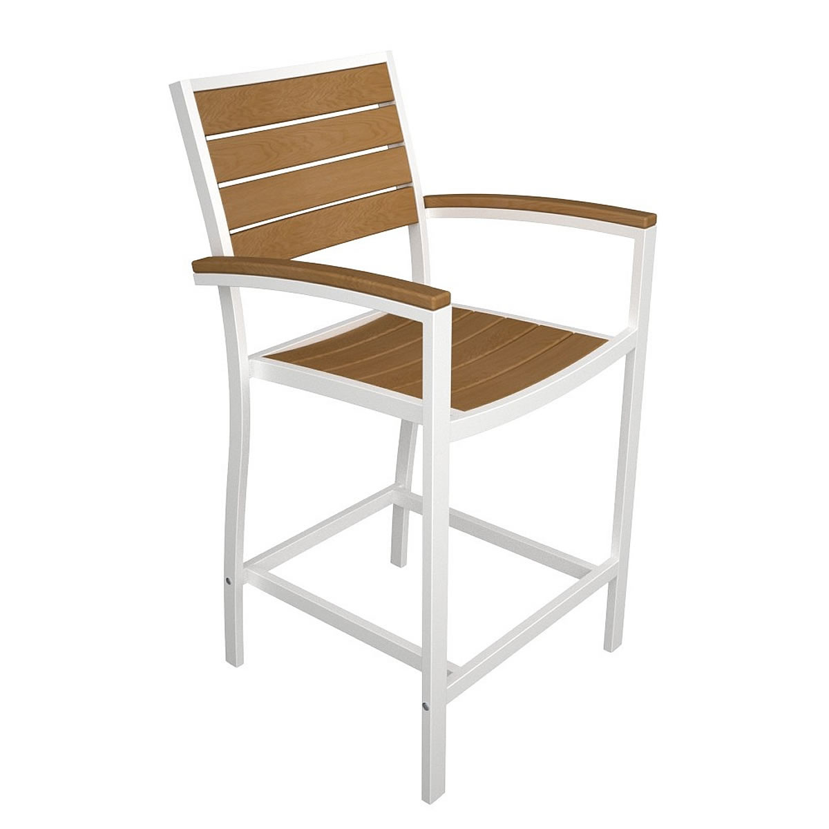 POLYWOOD Euro Counter Arm Chair with Plastique