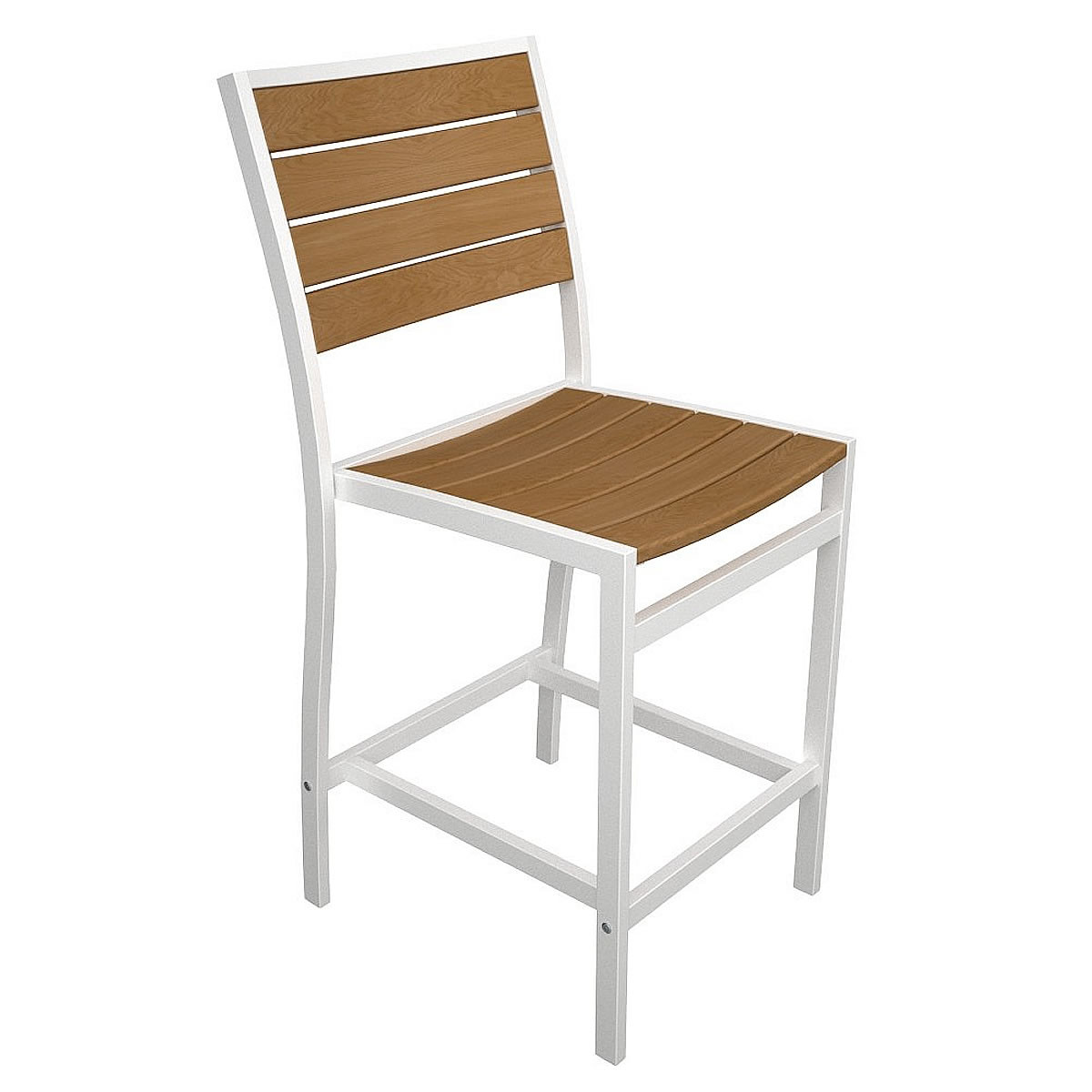 POLYWOOD Euro Counter Side Chair with Plastique