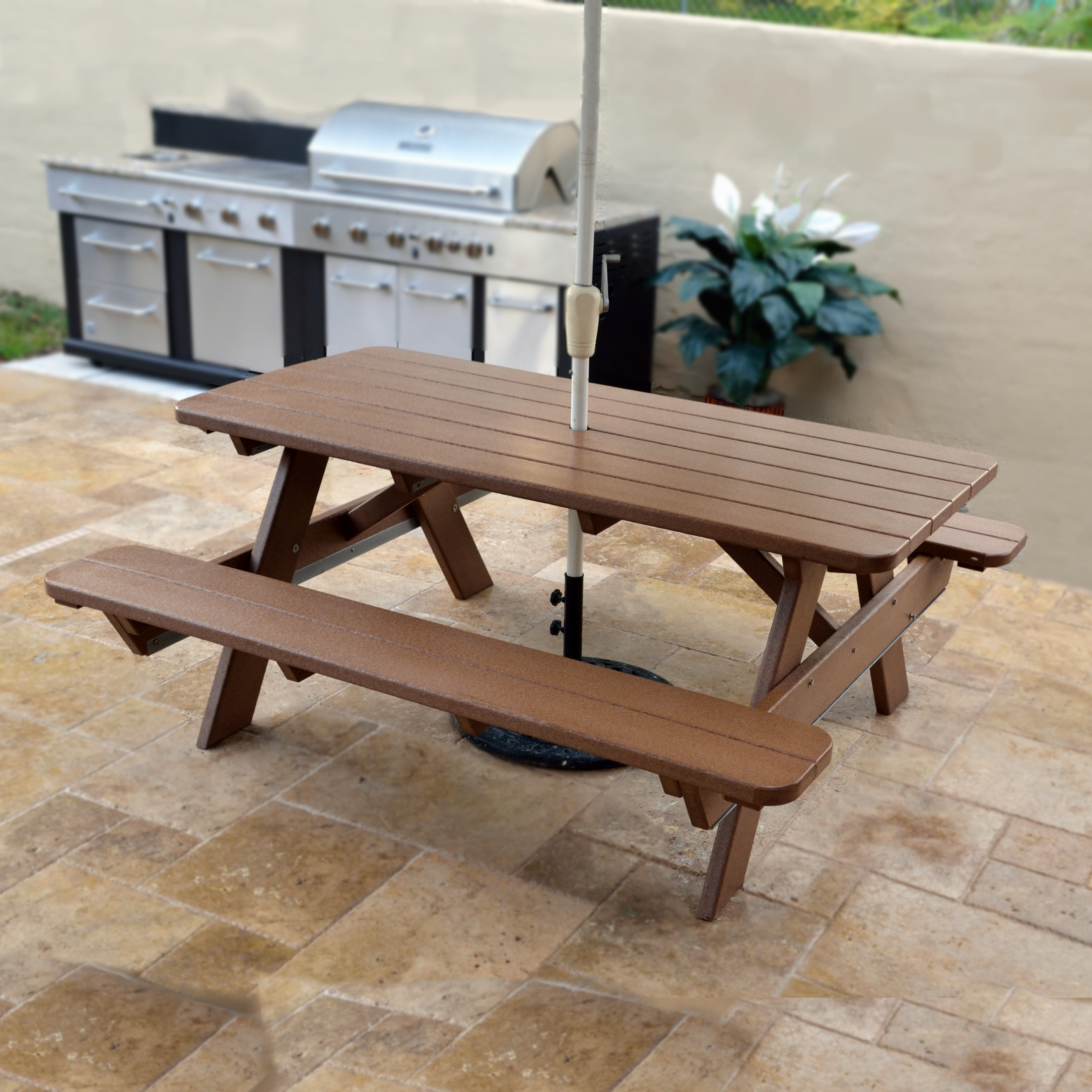 POLYWOOD 72 In Commercial Picnic Table