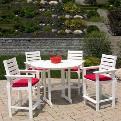POLYWOOD Captain Counter 25in Bistro Set