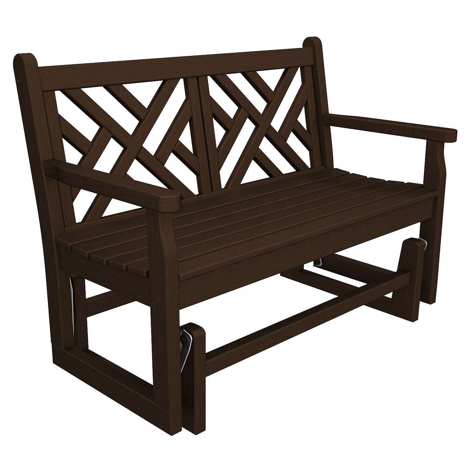 Polywood chippendale 48 in glider bench chippendale collection polywood outdoor furniture Polywood bench