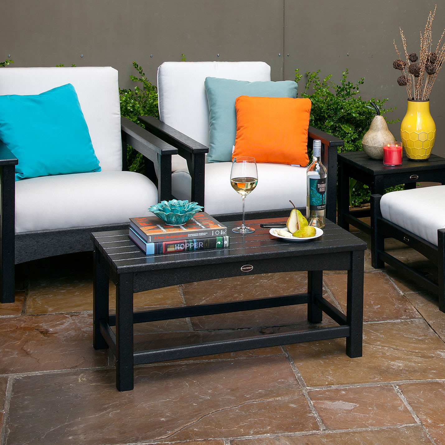 POLYWOOD Club Coffee Table Mission Collection POLYWOOD Outdoor - Polywood coffee table