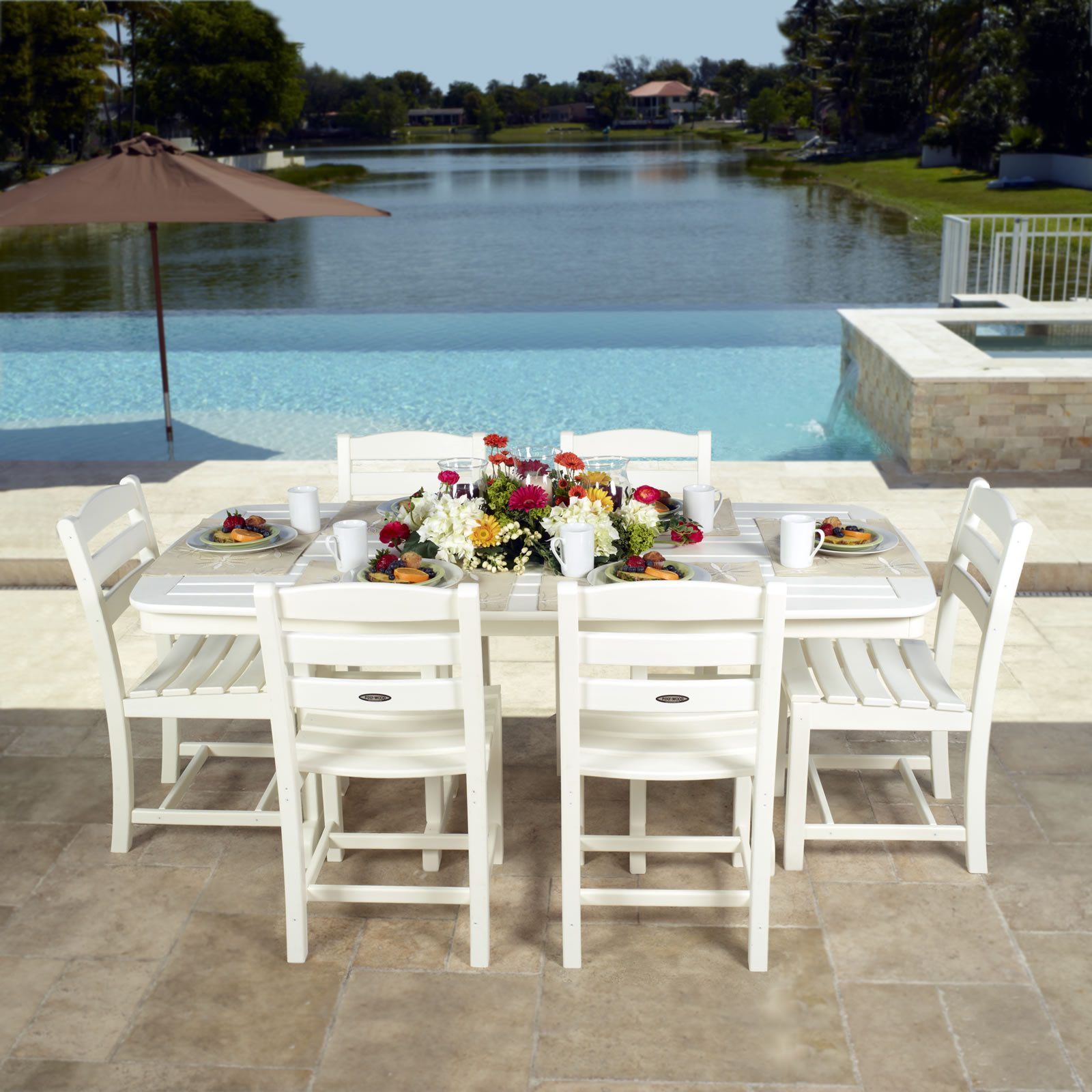 POLYWOOD® La Casa Nautical Dining Set