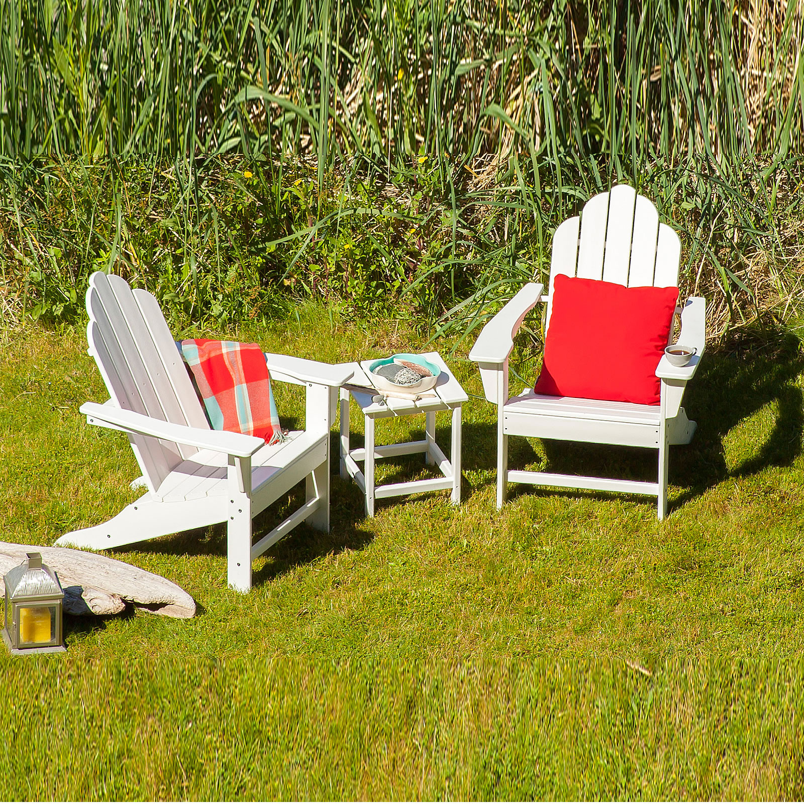 POLYWOOD Long Island Adirondack Seating Set Long Island - Outdoor furniture long island