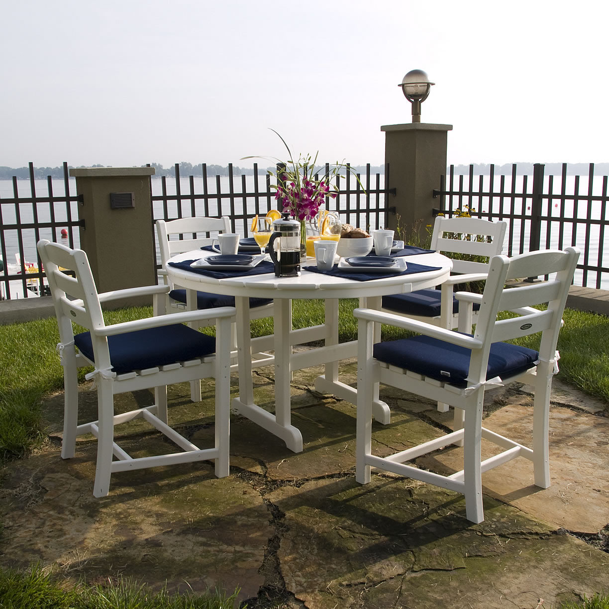 POLYWOOD® Monterey Dining Set with Cushions