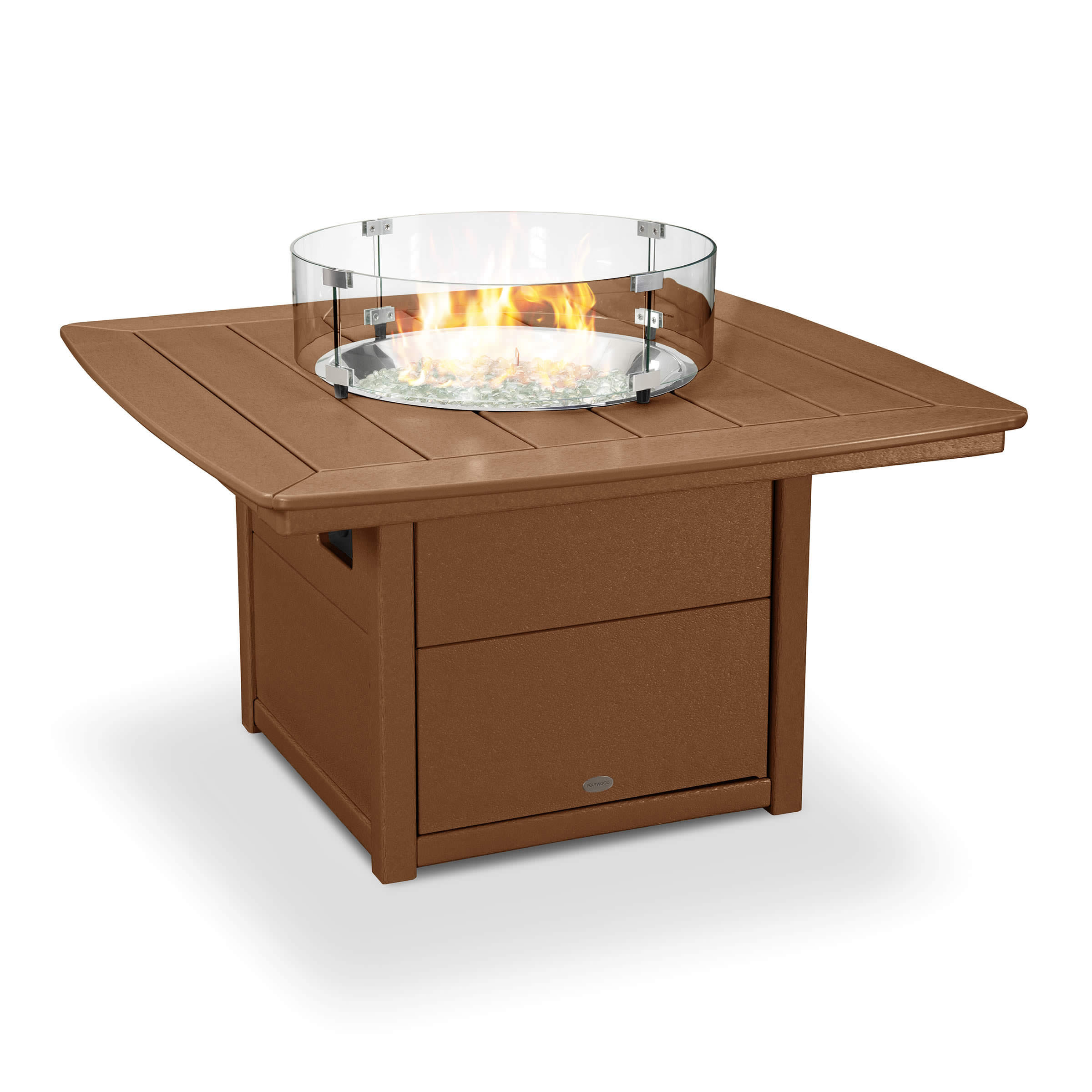 POLYWOOD Nautical 42 in Fire Pit Table