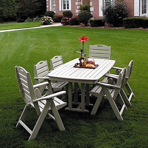 POLYWOOD Nautical Casual Dining Set