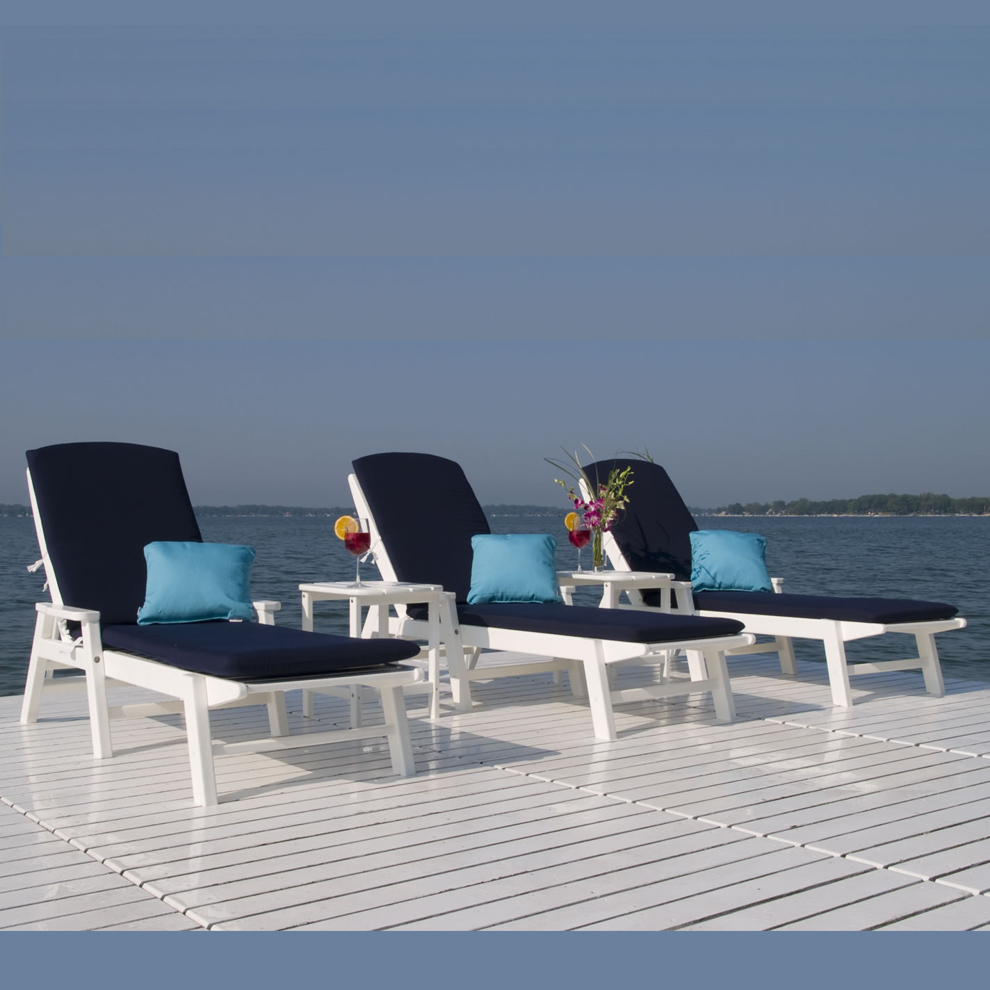 Wondrous Polywood Nautical Chaise Lounge Set Short Links Chair Design For Home Short Linksinfo