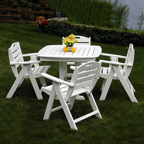 POLYWOOD® Nautical Lowback Dining Set