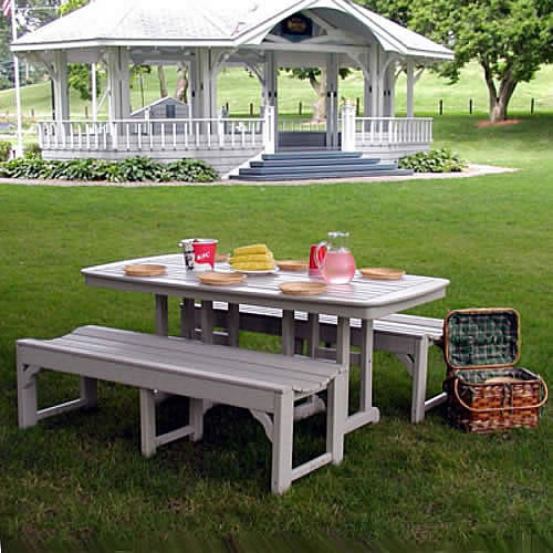 POLYWOOD® Nautical Picnic Dining Set