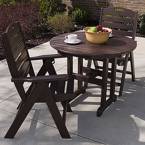Polywood Nautical Round Table Set Collection Outdoor Furniture Collections