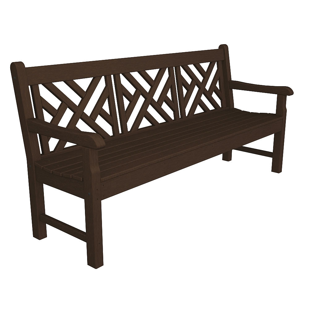 POLYWOOD Rockford Chippendale 72 Inch Bench
