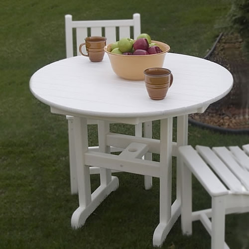 polywood round 36 in dining table traditional garden polywood outdoor furniture collections - Garden Furniture Traditional