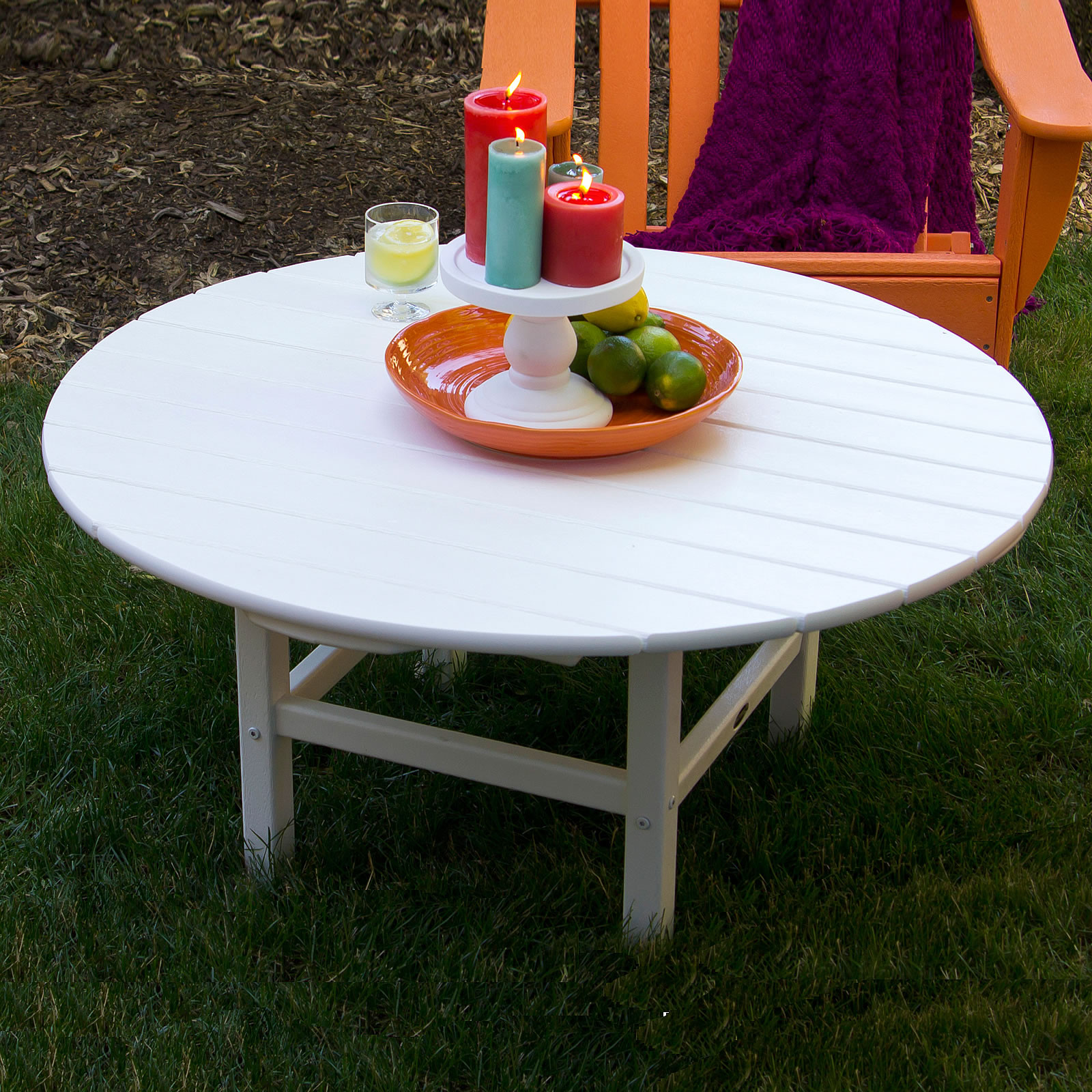 Polywood Round 38 Inch Conversation Table